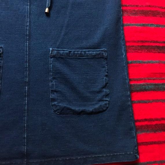 Dark Wash Denim Mini Dress with pockets - small - image 4