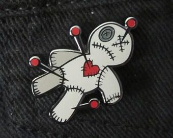 Pierce the Voodoo Heart Enamel Pin