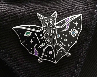 Nebula Night Bat Enamel Pin