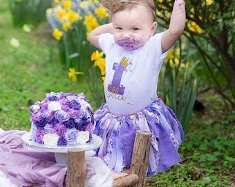 Purple Tutu Purple Tutu Birthday Outfit Purple First Birthday Outfit Purple Birthday Outfit 1st Birthday Tutu Birthday Tutu Purple Birthday