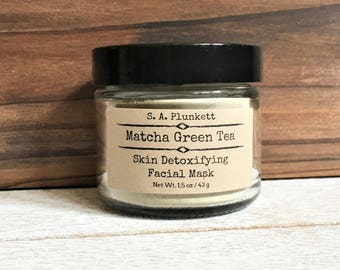 Organic Matcha Green Tea Skin Detoxifying Face Mask