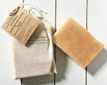 Lavender, Lemongrass & Oat Bath Soap
