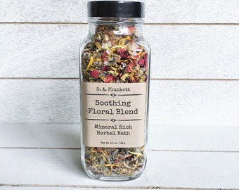 Soothing Floral Blend, Mineral Rich Herbal Bath