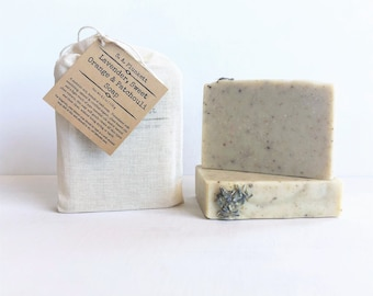 Artisan Soap - Lavender, Sweet Orange and Patchouli - Organic Bath Soap - Gift Soap - Bar Soap - Soap in a Bag - Gift Soap