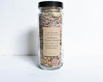 Bath Soak – Soothing Floral Blend, Mineral Rich Herbal Bath, Bath Salts, Herbal Bath, Bath Tea, Spa Gift, New Mom Gift, Self Care, Organic