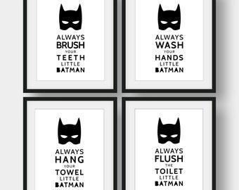 Batman Bathroom Etsy