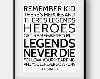 Sandlot Quote Etsy