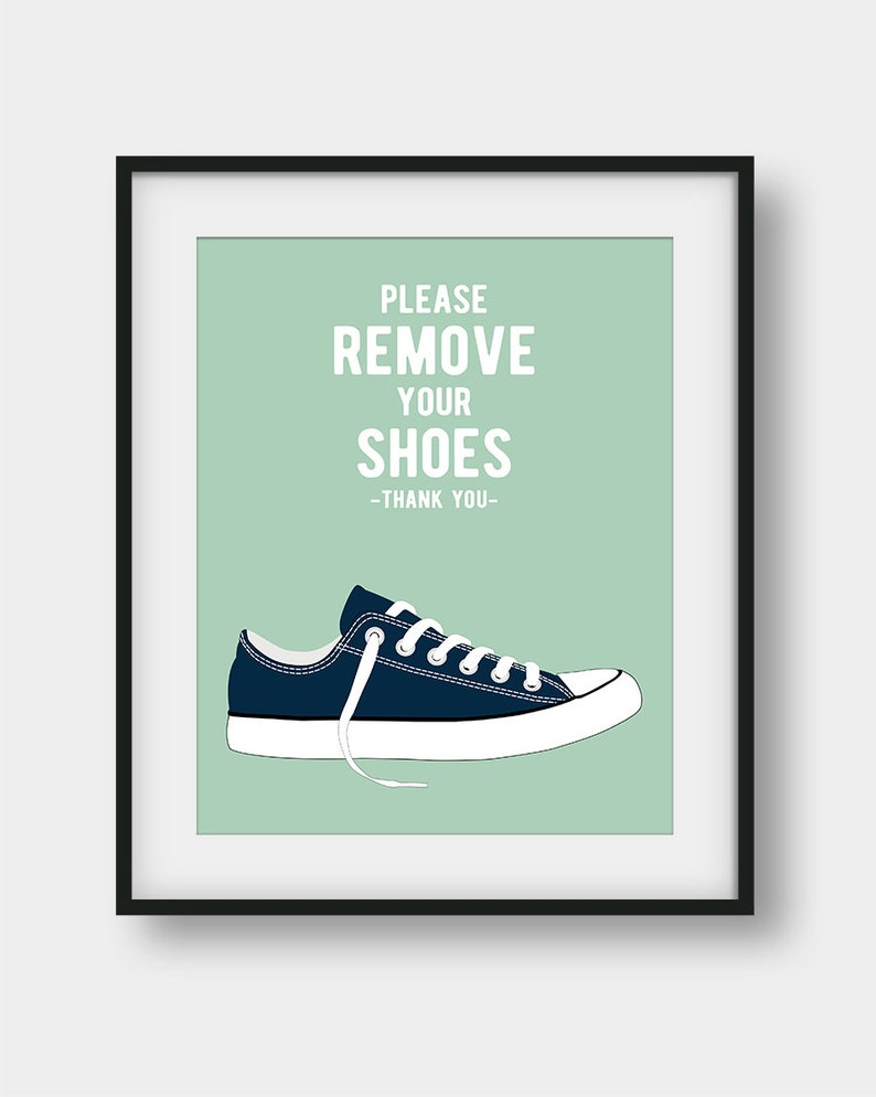 e19abbecbfcb5 60% OFF Please Remove Your Shoes Printable Wall Decor, Shoes Off Please,  Navy Mint Wall Decor, Entry Sign, Home Decor, Playroom Decor