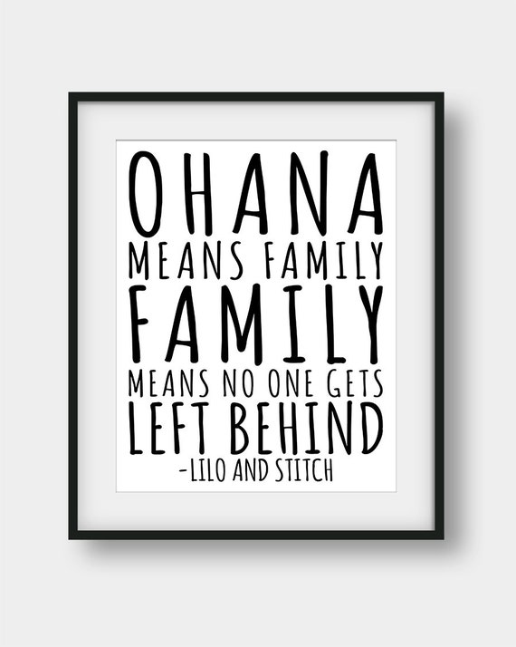60 Off Ohana Means Family And Family Means No One Gets Left Etsy