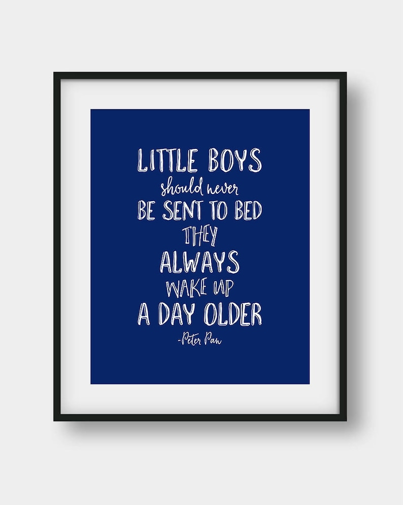 60 Off Little Boys Should Never Be Sent To Bed Peter Pan Etsy