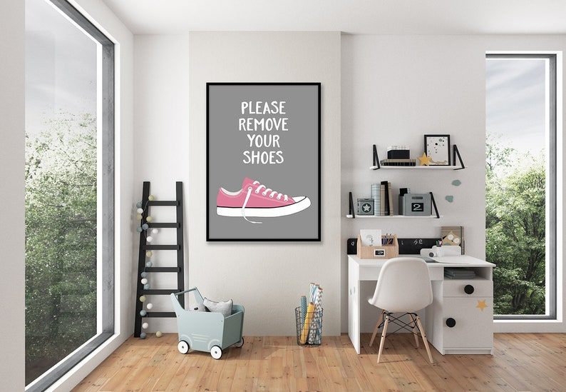 60 Off Please Remove Your Shoes Printable Wall Decor Shoes Etsy