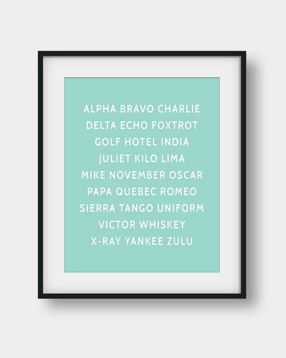 image relating to Nato Phonetic Alphabet Printable named 60% OFF NATO Phonetic Alphabet Print, Aviation Artwork, Aviation Decor, Pilot Reward, Comfortable Mint Wall Artwork, Aircraft Decor, Phonetic Alphabet Poster