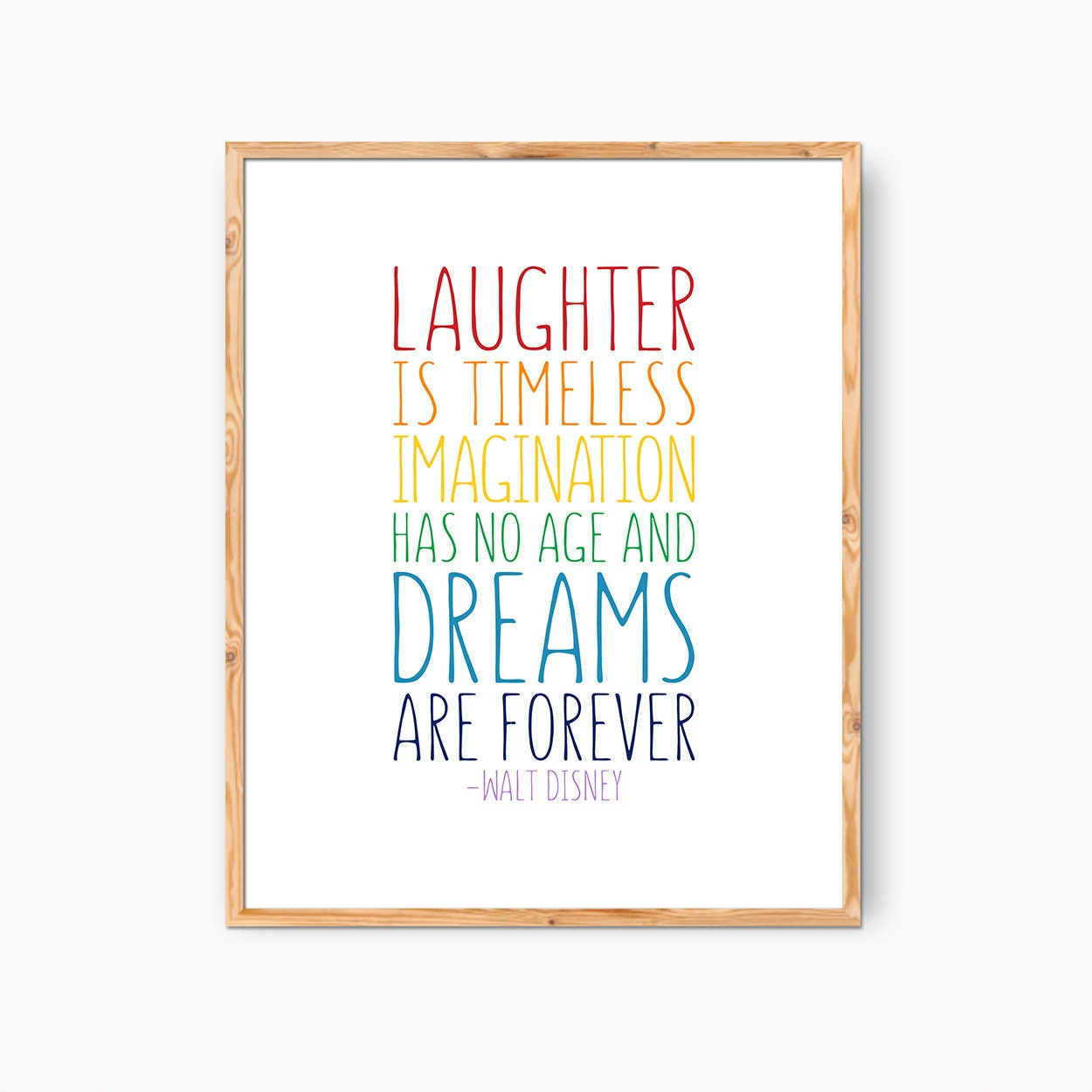 framed walt disney quote