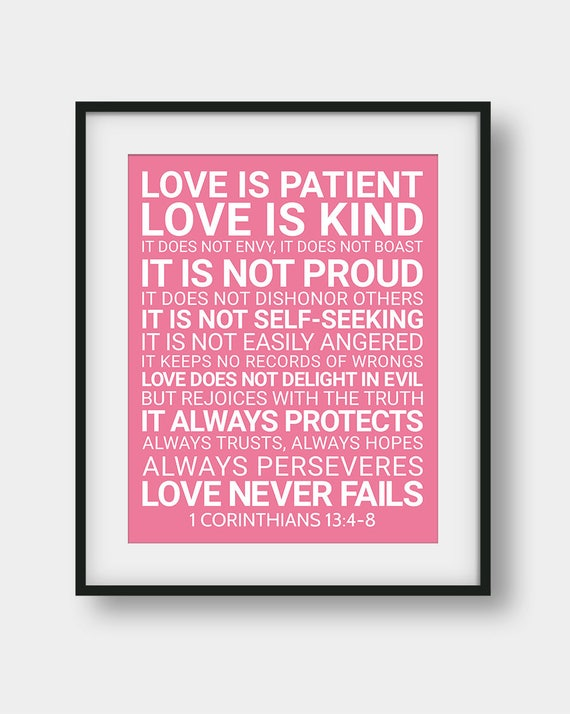 Love Is Patient Love Is Kind Quote Adorable 48% OFF Love Is Patient Love Is Kind It Does Not Envy 48 Etsy