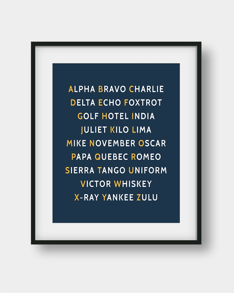 picture about Phonetic Alphabet Printable named 60% OFF NATO Phonetic Alphabet Print, Youngsters Place Decor, Pilot Present, Aviation Decor, Armed service Orange Decor, Phonetic Alphabet Printable Wall Artwork