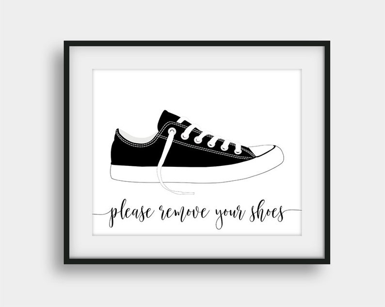 2bd8cf97022f5 60% OFF Please Remove Your Shoes Printable Wall Decor, Shoes Off Please,  Black And White Shoes Off Entry Sign, Home Decor, Playroom Decor
