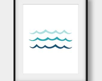 60% OFF Wave Print, Ocean Art, Ocean Wall Decor, Teal Wall Decor, Minimalist Print, Wave Poster, Nautical Decor, Sea Art, Coastal, Wave Art