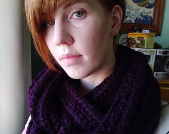 Wrapped Up In You Infinity Scarf in Plum