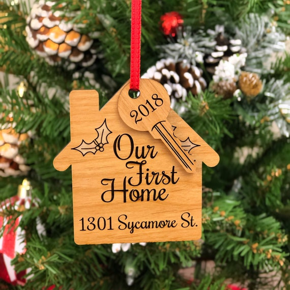 Our First Home Christmas Ornament.Our First Home Christmas Ornament Customized First Christmas In The New Home Ornament House Ornament Wooden House Ornament Custom