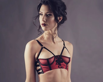 eacdd4e196 Cheryl 1 2 cup Bra in Red