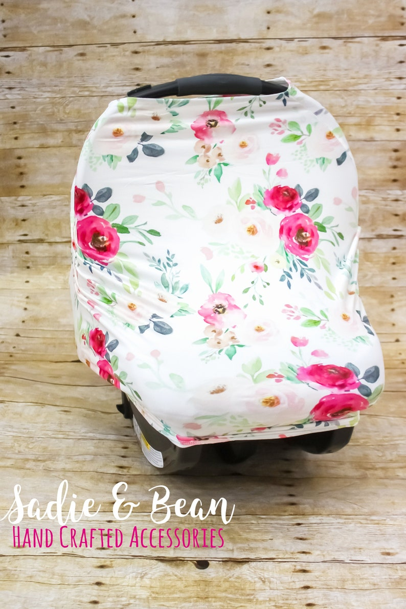 personalized and Shopping Cart Cover Nursing cover Carseat cover 4-in-1 Stretchy Baby Nursing Cover monogrammed baby Car Seat Canopy