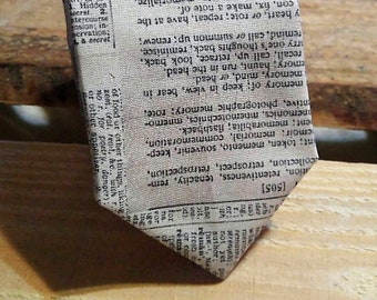 Book Page Necktie, Newspaper Necktie, Dictionary Necktie, Literary Necktie
