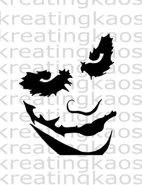 Joker Svg Png Etsy
