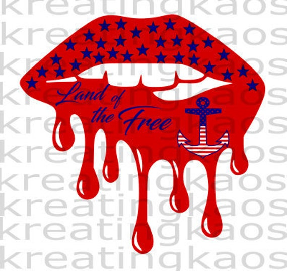 American Lips Svg Png Cut File And Sublimation Etsy