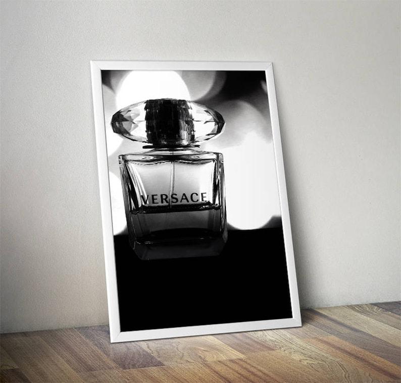 Versace Parfum Flasche Druck Parfüm Flasche Art Etsy