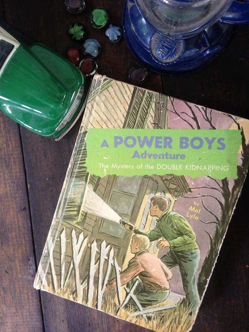 Vintage Power Boys Adventure Book, Children's Novel, Vintage Illustrations,  Mel Lyle, Books for Boys, Children's Classics, Rainy Cabin Reads