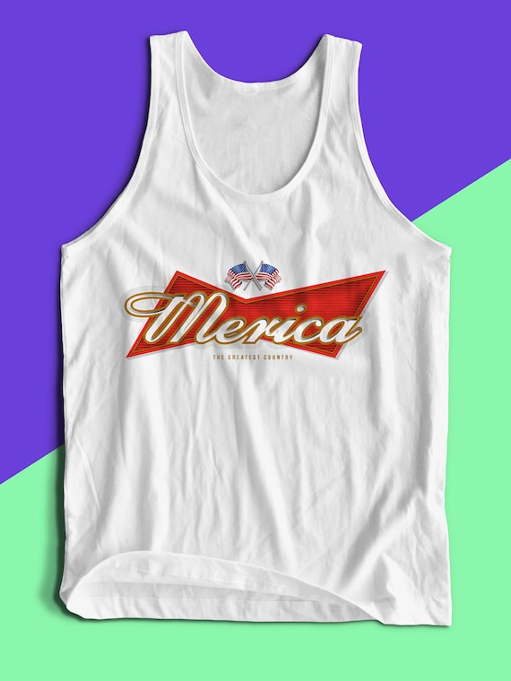 ae8750bbd846f Merica Tank Top July 4th Shirt July 4th Sale Beer Shirt