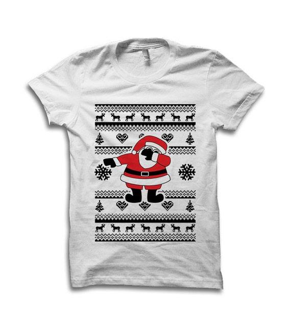 e4303deb Dabbing Santa T Shirt Dab Dab Shirt Black Santa How To | Etsy