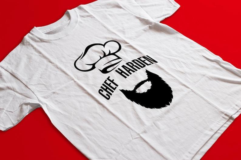 9c105c1f563 Chef Harden T Shirt James Harden MVP Fear The Beard