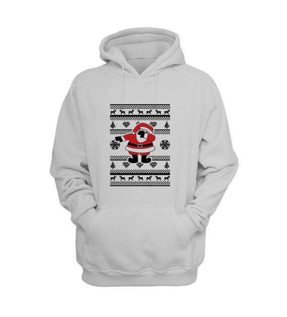 Dabbing Santa Hoodie Dab, Dab Shirt, Black Santa, How To Dab, Ugly Christmas Sweater, Christmas Hoodies by Raw Clothing