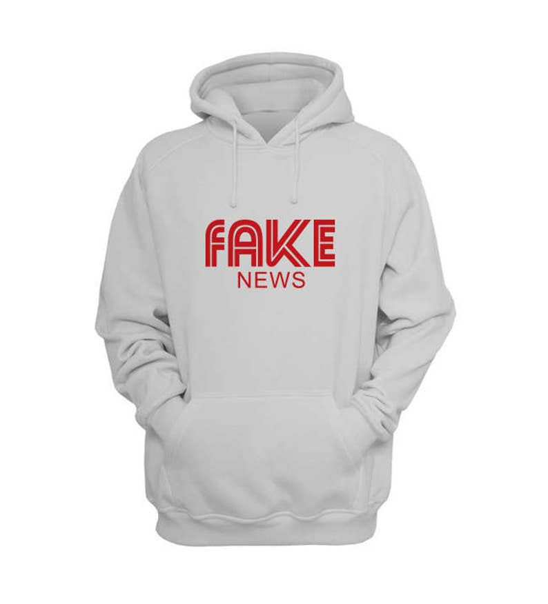 Fake News Hoodie Donald Trump Shirt, Handshake Gate, Trump News, Graphic Pullover Hoodies by Raw Clothing