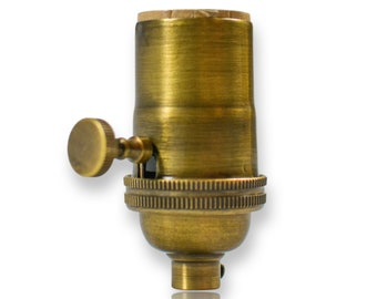Antique  Brass 3 Way Socket