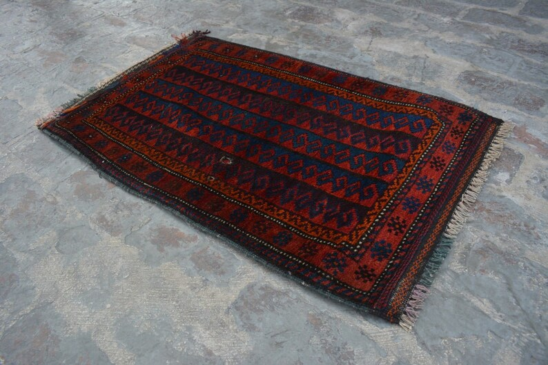Stunning Handmade Vintage  Gorgeous Baluchi Rug Woolen Rug Caucasian Rug SIZE : 2/'1 x 3/'5 Feet   #F0 Afghan Hand Knotted Rug