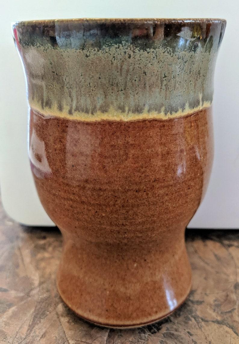 BEER PILSNER  PINT Stoneware Nutmeg Art Glaze Handmade by T C Pottery Studio