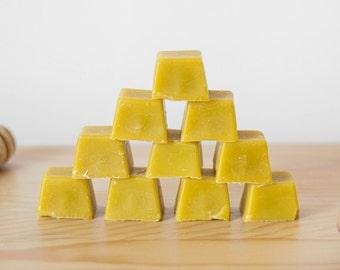 Organic beeswax, pure wax, natural candlemaking supplies, 4 ounces (4 OZ, 8 blocks) 100% bees wax, honey beeswax yellow raw eco friendly wax