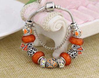51e17cc7b Leukemia Multiple Sclerosis Pandora Style Charm Bracelet