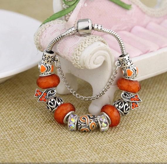 Leukemia Multiple Sclerosis Pandora Style Charm Bracelet Etsy