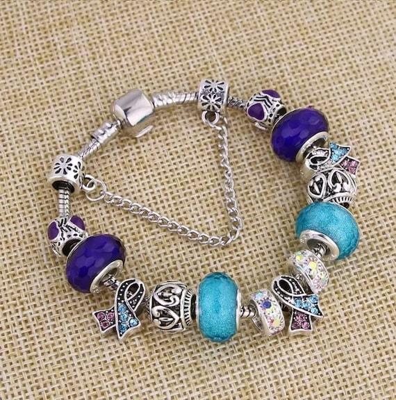 Thyroid Cancer Pandora Style Charm Bracelet Etsy