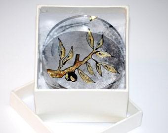 Handmade Painted Plexiglass, olive, gift for home, good luck gift, gift for her, gift for him, gift for women, gift for men, good luck