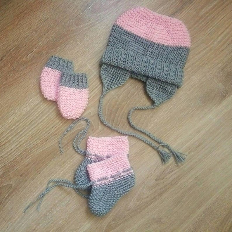 Hand knitted baby soft hat and kid socks knitted hat knitted socks cotton baby hat cotton socks cotton knit hat kid shower gift soft socks