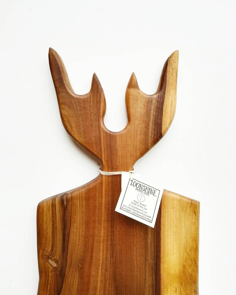 Antlers Charcuterie board  Walnut wood  Deer  Elk  Antlers  Charcuterie board