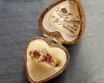 Antique Heart Shaped Ring Box | H. Mailland, Watford