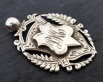 Victorian Sterling Silver Shield Fob | Hallmarked Birmingham 1893