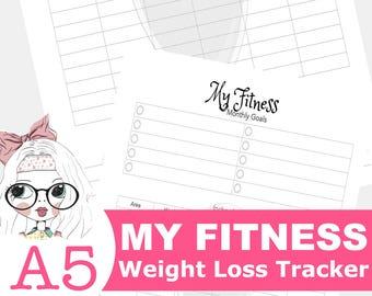 Tygodnik fitness planner do druku wkładki fitness personal | etsy.