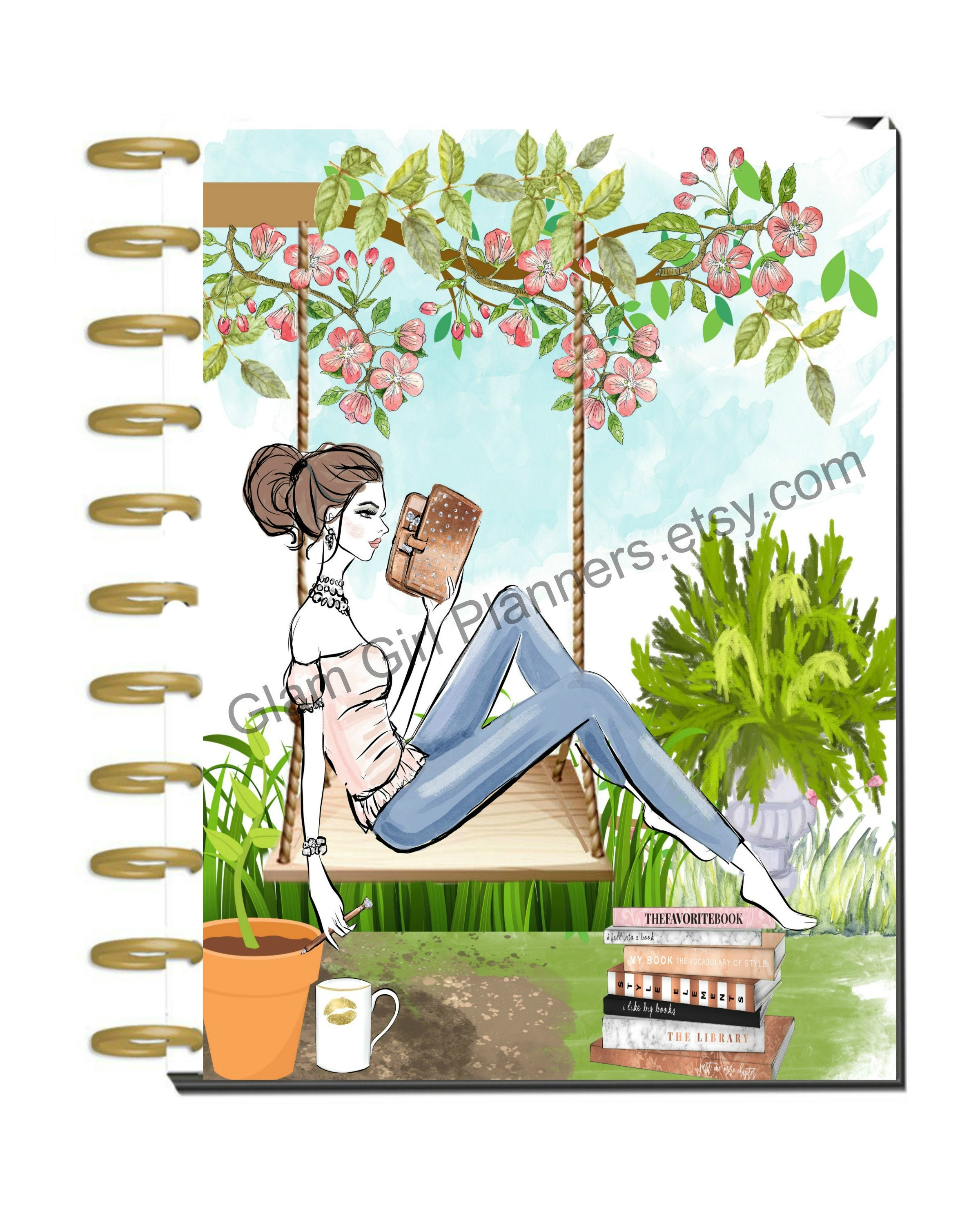 graphic about Planner Cover Printable known as Printable Planner Protect, Pleased Planner Protect, Spring Summer season Electronic Planner Include, Printable Planner Protect, Planner Female Printable, Electronic