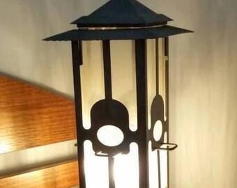 Feed the Birds Lamp Light Bird Feeder Garden Decor Accent Table Lamp